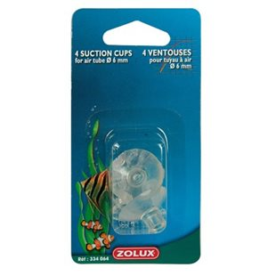Zolux - Sugkopp med clips - 4/6 mm - 4-pack