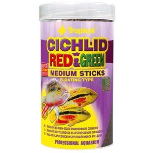 Tropical Cichlid Red & Green Medium Sticks - 250 ml
