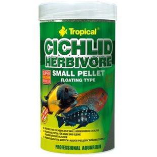 Tropical Cichlid Herbivore Small Pellet 250 ml