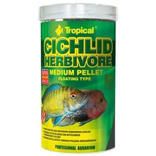 Tropical Cichlid Herbivore Medium Pellet - 500 ml