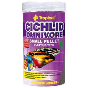 Tropical Cichlid Omnivore Small Pellet - 250 ml