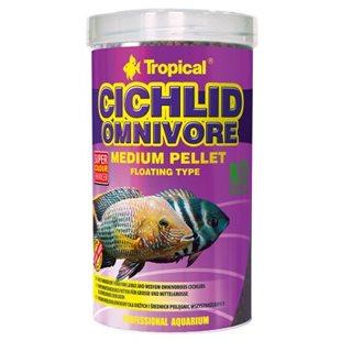 Tropical Cichlid Omnivore Medium Pellet - 500 ml