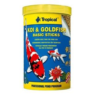 Tropical Koi & Goldfish Basic Sticks - 1000 ml/85g