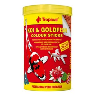 Tropical - Koi & Goldfish Colour Sticks - 1000ml/85g