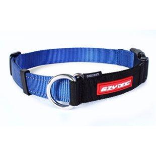 Ezy Dog Halsband Checkmate Blå M Ställbar Halvstryp