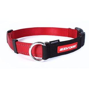 Ezy Dog Halsband Checkmate Röd L Ställbar Halvstryp