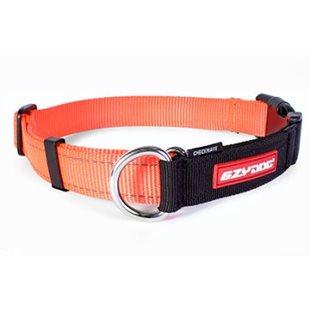 Ezy Dog Halsband Checkmate Orange Xl Ställbar Halvstryp