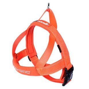Ezy Dog Sele Quick Fit Orange Neopren M 10-19Kg Justerbar