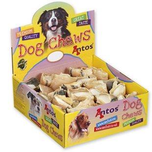 Hundsnacks Klöver med fyllning (fårfett) - [50-pack]
