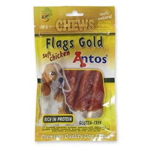 Hundsnacks Soft Chicken Flags ´Gold´ 100g - [20-pack]