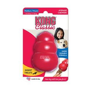 Kong Classic - Röd - Medium - 9x6 cm