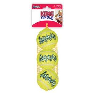 Kong Airdog Tennisboll - 3-Pack - Small - Squeaker - 5 cm