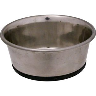 Hundskål - Rostfri - Anti-Slip - Tung - 1900 ml - 20 cm