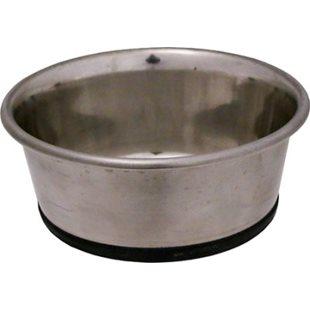 Hundskål - Rostfri - Anti-Slip - Tung - 2750 ml - 23,5 cm