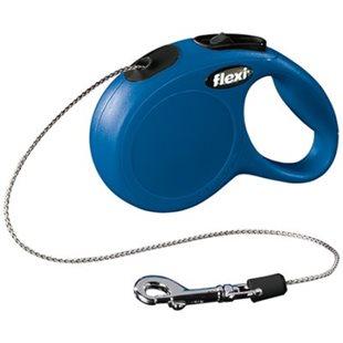 Flexi New Classic - Blå - 3 m lina - Max 8 kg