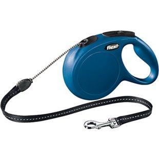 Flexi New Classic - Blå - 8 m lina - Max 20 kg