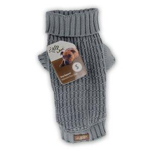 Hundtröja - Fishermans Sweater - Stickad - Grå - L - 35.6 cm