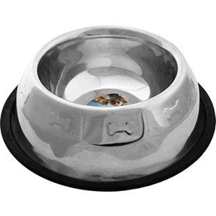 Hundskål - Rostfri - Nontip Cocker - 1000 ml