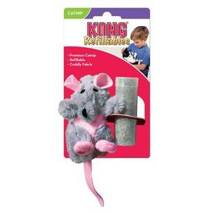 KONG Råtta med påfyllningsbar kattmynta