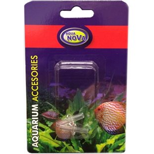 Aqua Nova - 4/6 mm skarvkoppling transparent - 2-pack