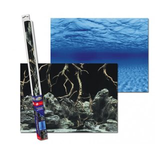 Aqua Nova Bakgrund  100x50 cm root/water