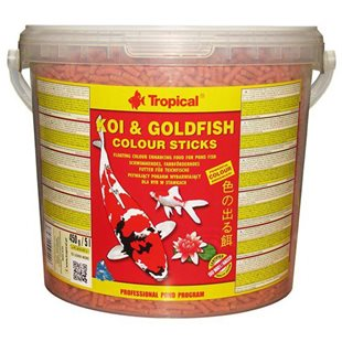 Tropical - Koi & Goldfish Colour Sticks - 5L