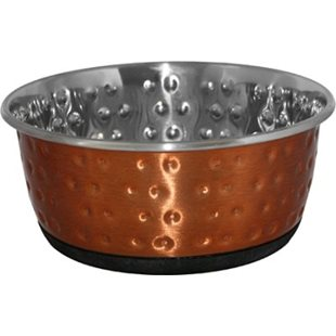 Hundskål - Rostfri - 950 ml - Kopparfärg