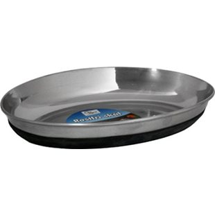 Kattskål Rostfri - Anti-slip Oval - 250 ml