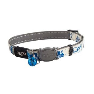 ROGZ Glowcat halsband - Blå - 20-31 cm