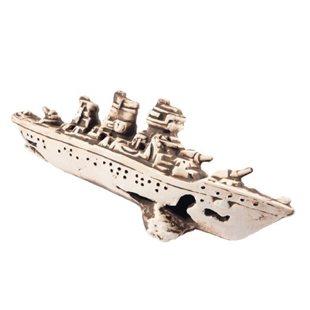 Vrak - Krigsfartyg - 25x9x7 cm