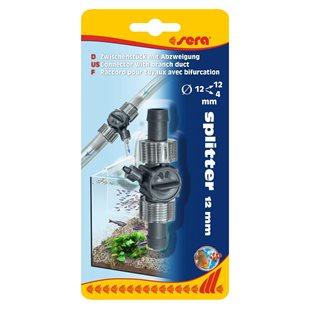 Sera Splitter 12/12 mm - Med förgrening till 4mm