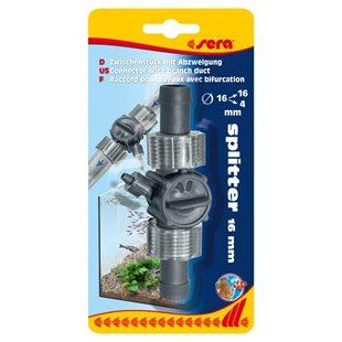 Sera Splitter 16/16 mm - Med förgrening till 4mm