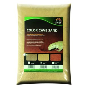 Terra Exotica - Color Cave Sand -  Yellow - 10 kg - Grävsubstrat