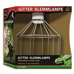 Terra Exotica Wire Mesh Clamp Lamp - Max 300 watt - E27