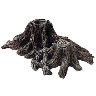Trädstubbe med håligheter 25x15 cm
