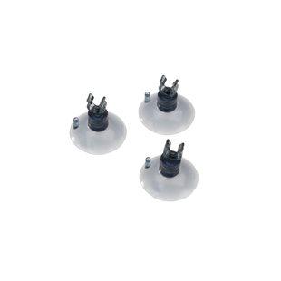 Aqua Della - Sugkopp med clips - 4/6mm - 3-pack