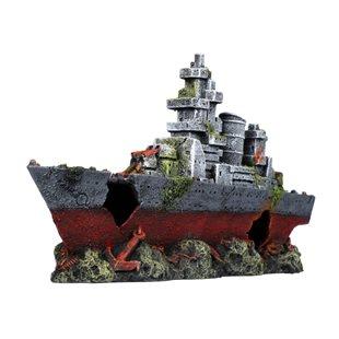 Aqua Della - Amoco - Krigsfartygsvrak - 39x10x20 cm