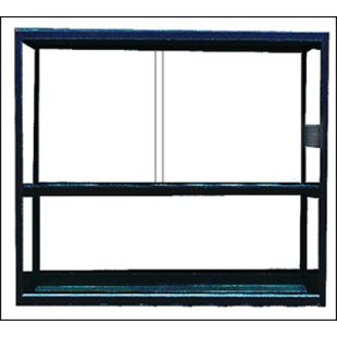 Terrarium - Aluminium - Svart - 75x40x80