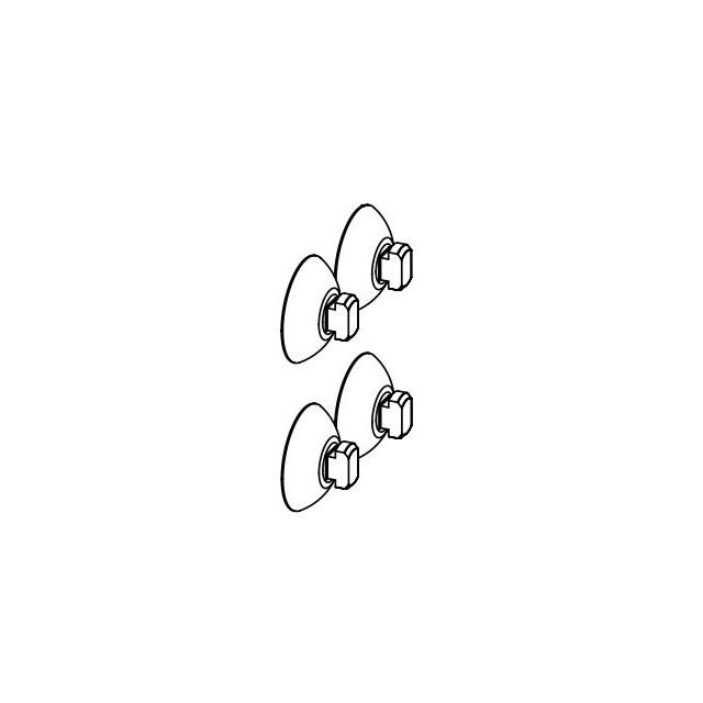 Aquael - Sugkoppar Fan/Pat Mini - 4-pack