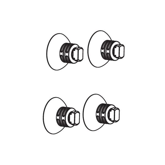 Aquael - Sugkoppar till Turbofilter / Circulator (1000-2000) - 4-pack