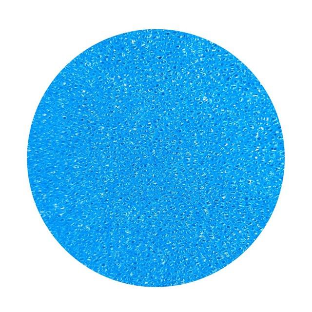 Blå finporig filtermatta - 50x50x10 cm - 30 PPI