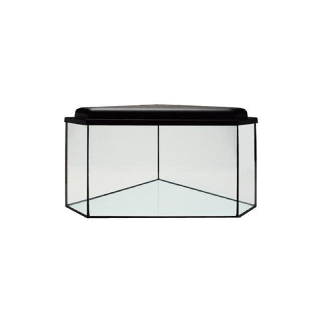 Hörnakvarium 64 liter - med belysning