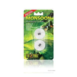 Exo Terra Monsoon - Sugkoppar med clips - 4/6 mm
