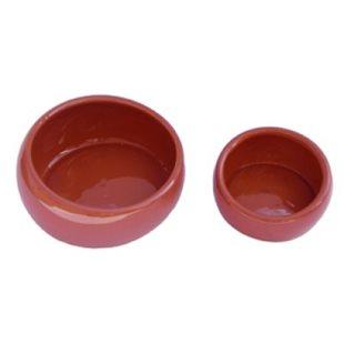 Keramikskål - Ergonomisk - Terracotta - 120 ml