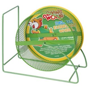 Hamsterhjul - Deluxe Grön - 17.5 cm