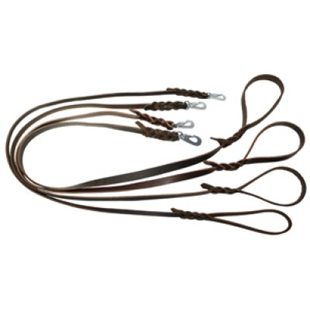 Alac Koppel Läder Mörkbrun 18 mm x 180 Cm