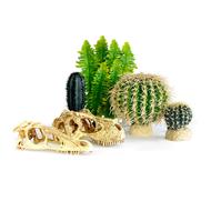 Plastväxter och dekorationer