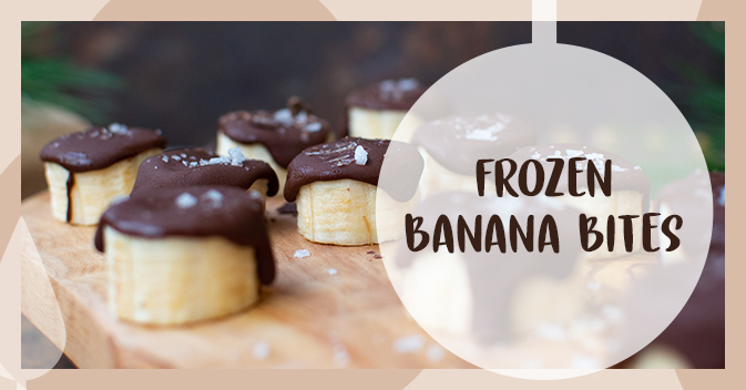 Recept på frozen banana bites