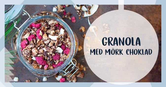 Recept på granola med mörk choklad