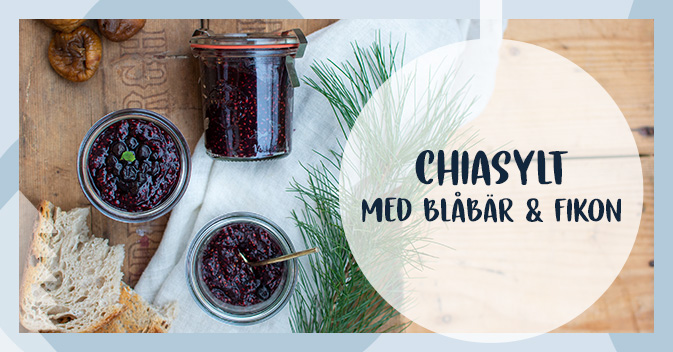 Recept på chiasylt med blåbär och fikon
